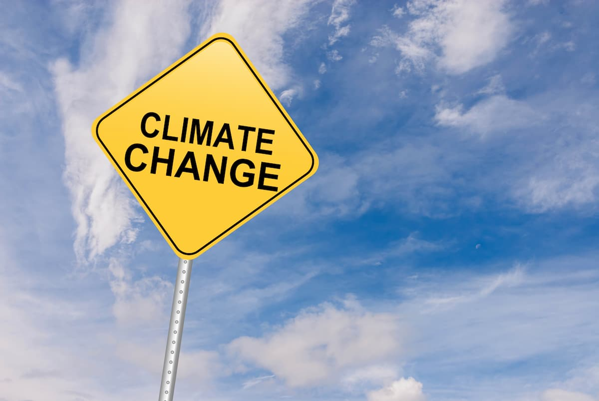 climate change sign - a call for fighting climate change