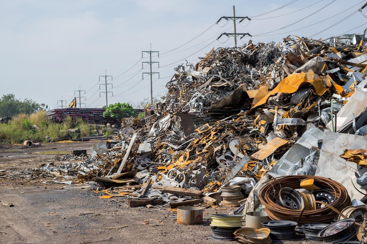 Metallic Waste at a waste management site