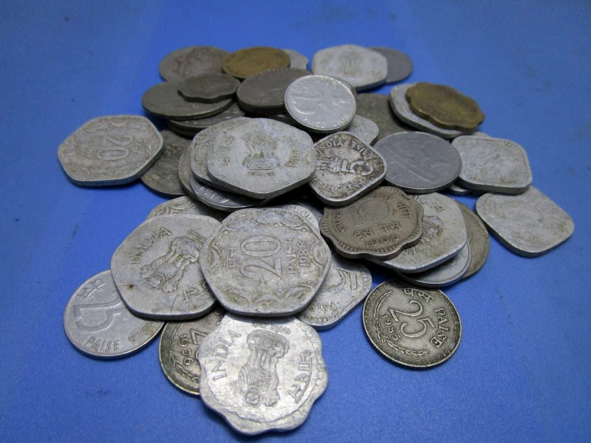 scrap value of coins all gathered together